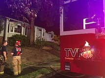 COURTESY OF TUALATIN VALLEY FIRE & RESCUE - Fire crews were called to the scene of a house fire on Southwest Danielle Avenue on Tuesday evening. The family that lived at the home evacuated safely, but the building is not habitable after the blaze, Tualatin Valley Fire & Rescue reported.