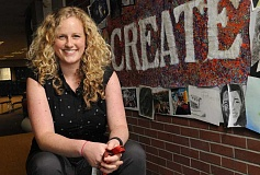 TIDINGS PHOTO: VERN UYETAKE - Amber Sprague is in her second year at Athey Creek Middle School after recently being named Oregon Rookie Art Teacher of the Year.