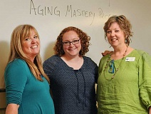 REVIEW PHOTO: VERN UYETAKE - Barb Blum (from left), Maria Bigelow and Ann Adrian are eager to follow up the success of the first Aging Mastery Program at Lake Oswego's Adult Community Center with a new 10-week series that began Sept. 22.