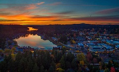 SUBMITTED PHOTO: CLIFFORD PAGUIO JR. - Lake Oswego resident Clifford Paguio Jr. took this sunset photo with a drone and shared it with The Review in November 2015. New rules adopted last week prohibit the use of drones on Lake Oswego park property.