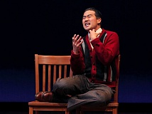 COURTESY: CHRIS BENNION - Ryan Yu plays Gordon Hirabayashi, Japanese civil rights activist, in 'Hold These Truths,' in a Portland Center Stage production at Gerding Theater, Oct. 7-Nov. 13.
