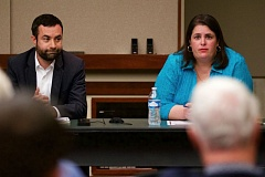 TIMES PHOTO: JAIME VALDEZ - Democrat Paul Southwick of Tualatin and state Rep. Julie Parrish, R-West Linn, both said at a candidate forum organized by the Tualatin Chamber of Commerce Wednesday that they oppose Ballot Measure 97.