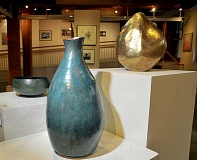 NEWBERG GRAPHIC / GARY ALLEN - The Chehalem Cultural Center in downtown Newberg displays a preview of artwork by Yamhill County Studio Tour artists, including copper sculptures by Sheridan metal artist Dave Hanson.