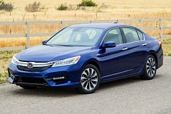 AMERICAN HONDA MOTOR COMPANY - The 2017 Honda Accord Hybrid benefits from a recently restyling of the model that results in a sportier look.