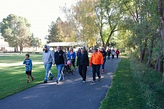 TIM SATTERFIELD/SPECIAL TO THE CENTRAL OREGONIAN - Local residents participate in the Pregnancy Resource Center Walk For Life, a two-mile walk, which began at 10 a.m. Saturday at Ochoco Creek Park.