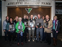 PHOTO COURTESY OF TIGARD HIGH SCHOOL - Tigard High School's first athletic Hall of Fame class was inducted on Sept. 23, at halftime of a Tiger football game.