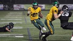 TIMES PHOTO: MILES VANCE - West Linn's Qawi Ntsasa makes a move during his team's 21-14 win at Tigard High School on Friday night.