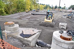 GARY ALLEN - A gigantic bioswale under construction adjacent to Springbrook Road will mitigate the runoff from the first phase of the Newberg-Dundee bypass.