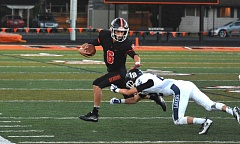 TIMES FILE PHOTO - Beaverton senior quarterback Carson Crawford and the Beavers face defending Class 6A state champion Jesuit on Friday at Cronin Field.