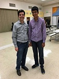 SUBMITTED PHOTO - Portland Youth Philharmonic Musical Director David Hattner, left, stands with Samuel Zacharia, winner of the 2016-2017 PYP Soloist Competition. Zacharia will be a featured soloist in the upcoming concert Oct. 30 in Corvallis.