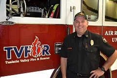 COURTESY OF TVF&R - Brian Almquist, general manager of an industrial distribution company in Tualatin, signed up as a volunteer firefighter in April 1994 and works closely out of Sherwood Station No. 33.