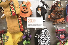 PHOTOGRAPHY BY JAIME VALDEZ - A large variety of Halloween costumes and accessories for your furry companion are sold at Unleashed by Petco.