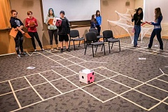 NEWS-TIMES PHOTOS: CHASE ALLGOOD - Teens gathered at the Forest Grove Library Saturday, Oct. 15, when they played a life-sized game of Clue.