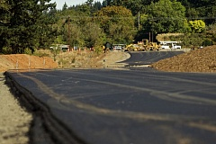 TIMES PHOTO: JAIME VALDEZ - New pavement on Basalt Creek Parkway facing the east shows the new road being built towards Southwest Grahams Ferry Road.