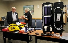 COLIN STAUG - The city has 14 'Hurricane' Portable Water Purification Machines, which it could deliver to churches around town to provide drinking water in the event of a disaster.
