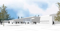 DOLE, OLSON, WEEKS ARCHITECTS - Conceptural architect's drawing of the proposed new elementary school