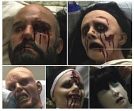 COURTESY PHOTOS - These five plastic head props used to decorate the Severed Head Tractor Rides held during Spirit of Halloweentwon were stolen last weekend, event planners reported. A reward is being offered for return of the props.