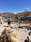 SUBMITTED PHOTO:  - Our Saviors Lutheran Church is hosting a benefit dinner to raise funds to bring emergency aid to victims of Hurricane Matthew in Haiti. This picture shows the devastation the people face.