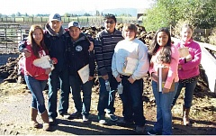 SUBMITTED PHOTO - Participating in the soils contest were students Mary Olney, left, Colton Reese, Dani Macias, Adolfo Villegas, Shain Beymer, Leslie Montano and Heather Horn.