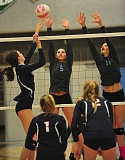 VERN UYETAKE - The Lakeridge and Lake Oswego volleyball teams opened the postseason on Wednesday and, with wins, would play again Saturday.