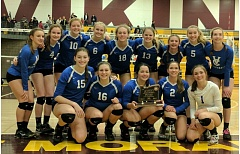 COURTESY PHOTO: BARBARA KERR - The Valley Catholic volleyball team took third at the Class 4A state tournament last weekend.