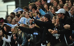 VERN UYETAKE - Lakeridge fans cheer their team on during last week's state championship victory.