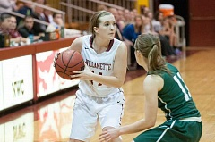 SUBMITTED PHOTO: WILLAMETTE UNIVERSITY - Canby High graduate Ashley Evans tied the Willamette University record for 3-pointers made in a game.