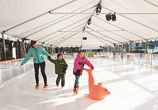 COURTESY PHOTO - Winter Village at Orenco Plaza will be open for ice skating and other winter festivities through Jan. 2.