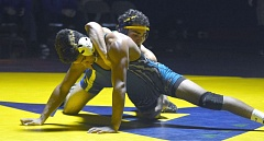 TIMES FILE PHOTO - Aloha senior Juan Lopez leads a young, but promising group of Warrior wrestlers this season.