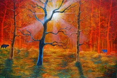CONTRIBUTED PHOTO - 'Autumn's End' by Caroline Green is among the works on display in the Member Show by the Gresham Art Committee.