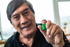 PORTLAND TRIBUNE: JONATHAN HOUSE - Toy inventor Hansan Ma holds one of his Playskool Play Family toys that has put him into the Toy Hall of Fame.