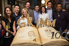 COURTESY: NBC UNIVERSAL - The stars of 'Grimm' celebrate episode No. 100. There'll be 123 episodes before the show ends in 2017.