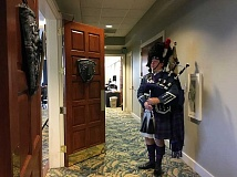 COURTESY PHOTO - Bagpiper Robin Scott will pipe in the haggis with traditional Scottish pomp and circumstance at the Jan. 28 Burns Night Supper hosted by Bag&Baggage Productions.