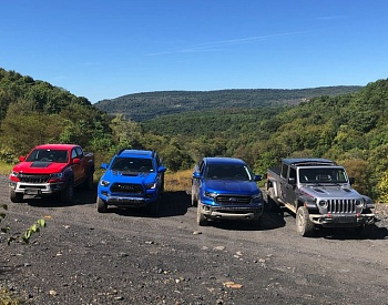 Comparing four midsize trucks at the Trail Trek Tour