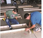 Canby Scout builds planter boxes