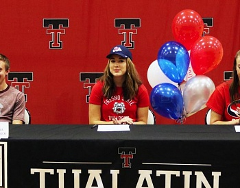 Tualatin seniors sign college letters of intent
