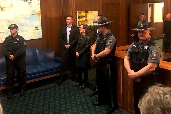 Protesters arrested after sit-in at Brown's Capitol office