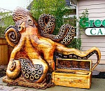 Octopus appears on Tacoma Street