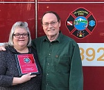 Gladstone woman receives award for saving husband