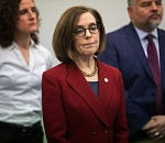 Oregon Gov. Kate Brown has (just) a cold