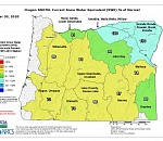 Mount Hood snowpack, precipitation to peak well below normal