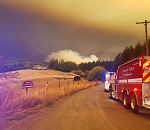 UPDATE: Evacuations ordered as wildfire burns west of Sherwood