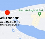 Two die in two-vehicle crash on Marine Drive west of Blue Lake