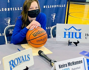 Wilsonville's Keira McNamee signs to play basketball at Hope International