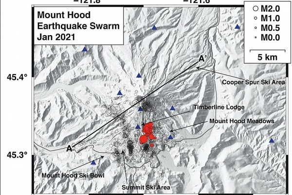 Mount Hood experiences swarm of small earthquakes