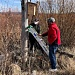 PHOTO COURTESY OF RON HALVORSON - Volunteers work on an osprey nesting box.
