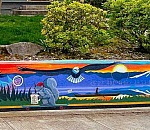 Umatilla Street mural features images of Portland