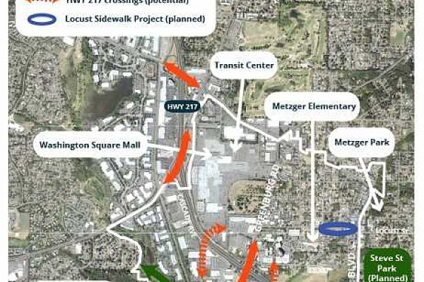 Tigard asks for input on possible bridges across Highway 217