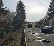 PHOTO COURTESY OF OREGON STATE POLICE - Two people died and a third was injured in a head-on collision Saturday in Yamhill County.