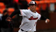 COURTESY: SCOBEL WIGGINS - Brandon Eisert was a late bloomer out of Aloha High who has impressed Oregon State coaches with his even-keel nature in relief as a freshman for the No. 1-ranked Beavers.